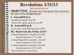 revolutions 1 31 13 http mrmilewski com