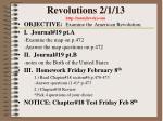 revolutions 2 1 13 http mrmilewski com
