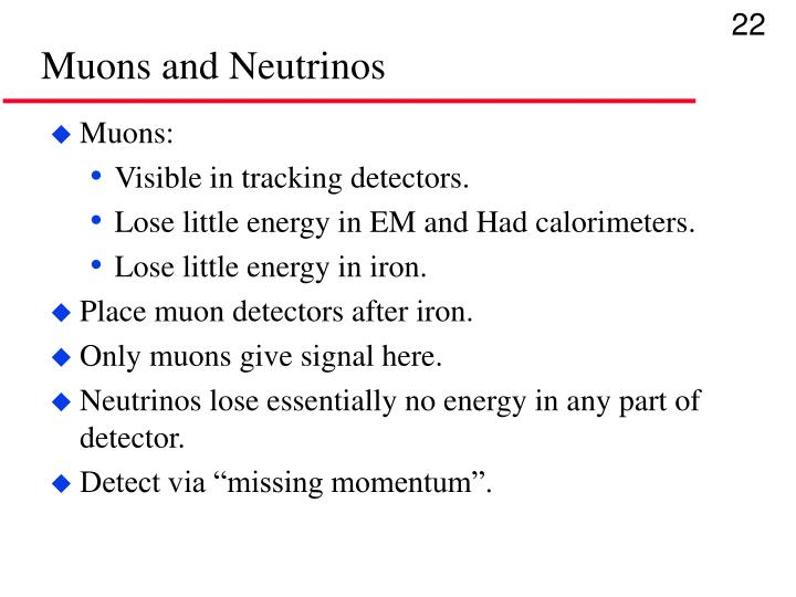Muons and Neutrinos