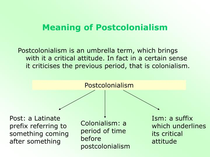 relationship between post structuralism and colonialism powerpoint