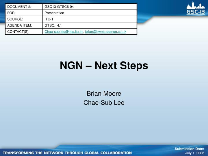 Ngn next steps