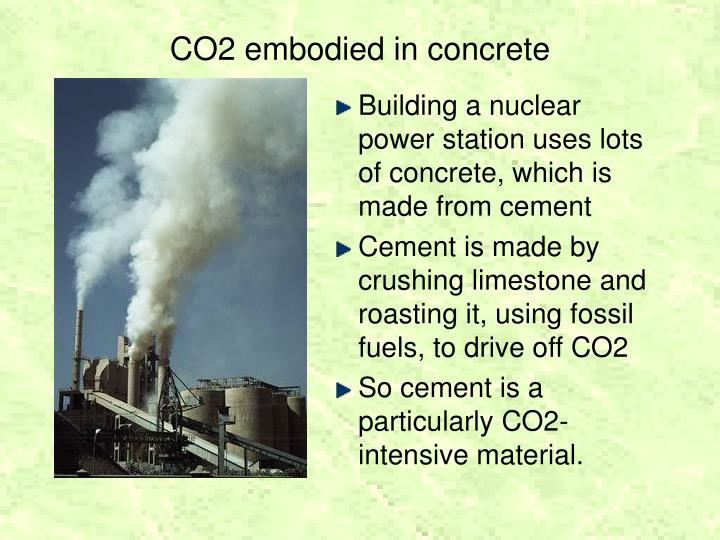 CO2 embodied in concrete