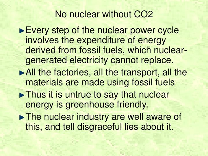 No nuclear without CO2