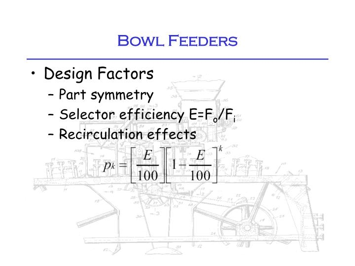Bowl Feeders