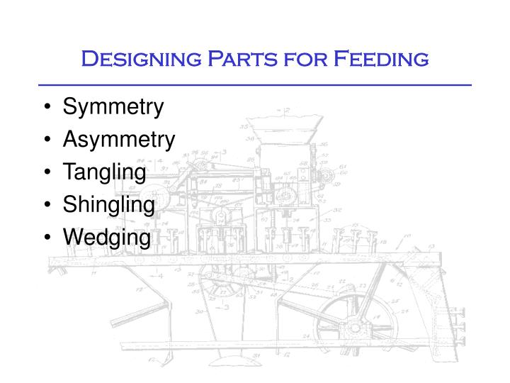 Designing Parts for Feeding