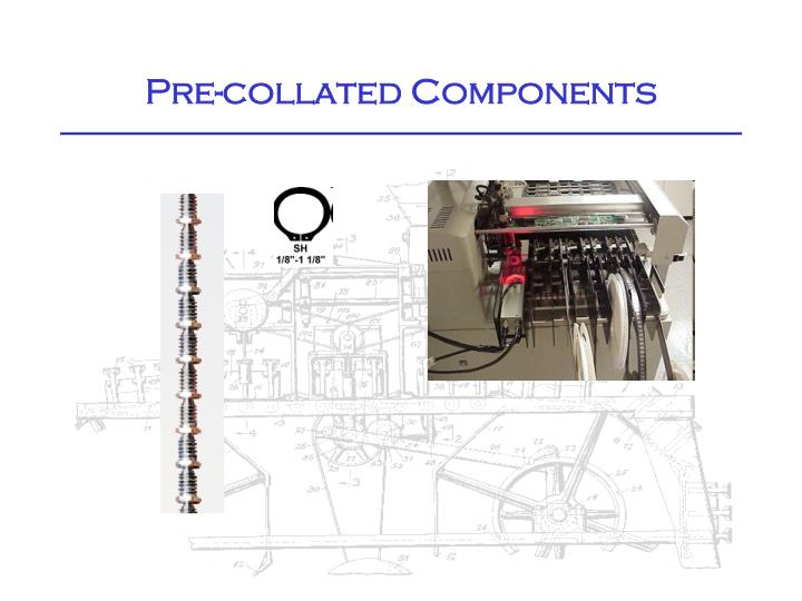 Pre-collated Components