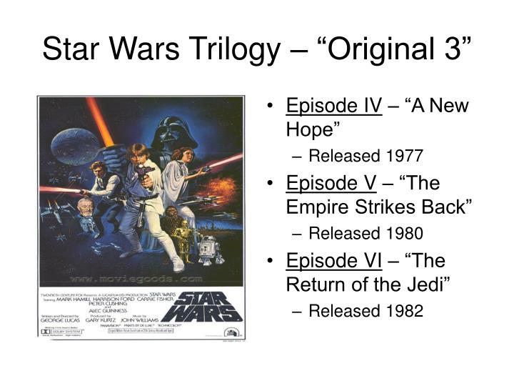Star wars trilogy original 3