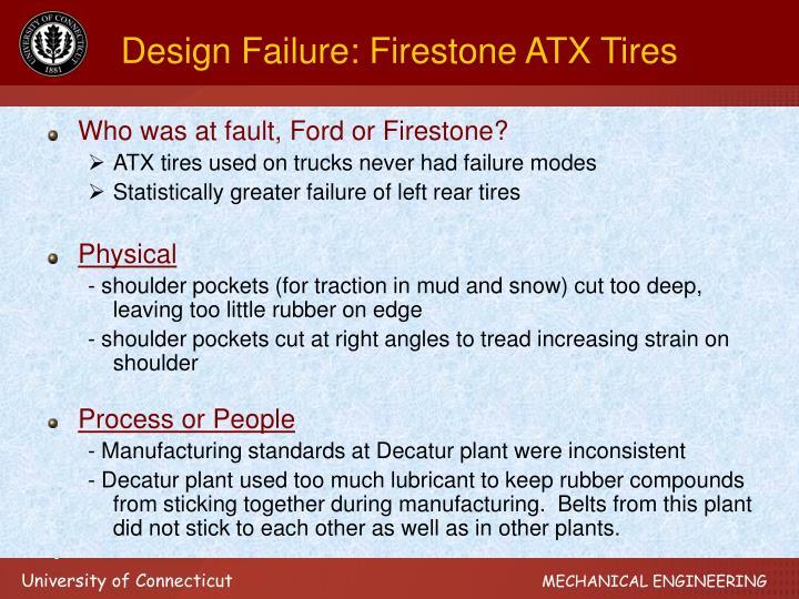 Design Failure: Firestone ATX Tires