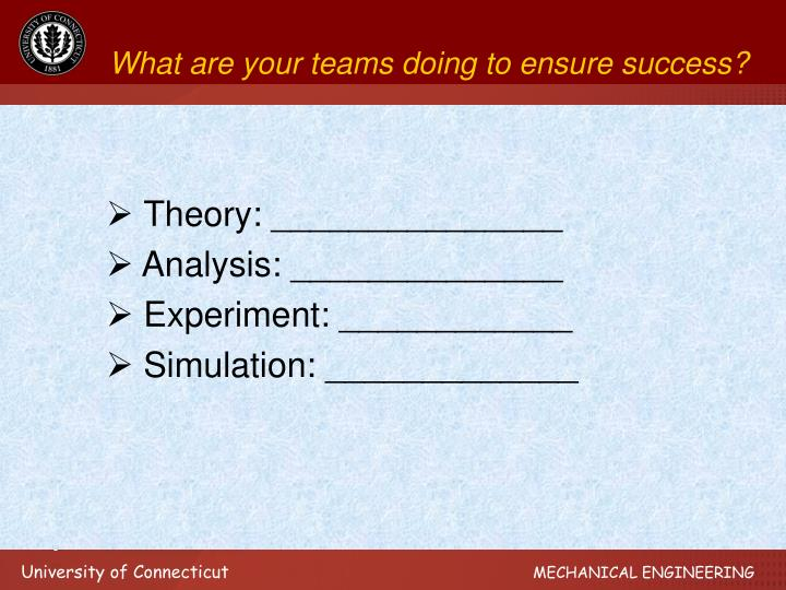 What are your teams doing to ensure success?