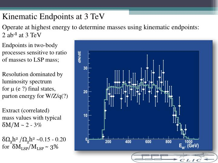 Kinematic Endpoints at 3 TeV