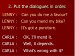 2 put the dialogues in order1