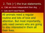 2 tick the true statements10