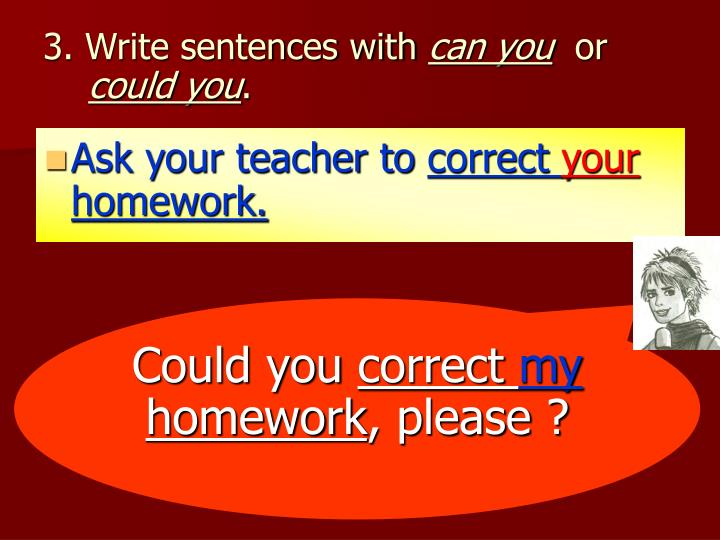 3. Write sentences with