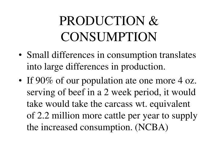 PRODUCTION & CONSUMPTION