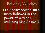 belief in witches