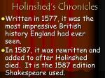 holinshed s chronicles