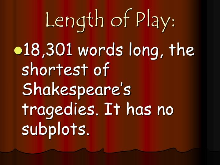 Length of Play: