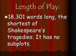length of play