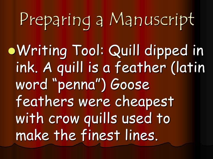Preparing a Manuscript