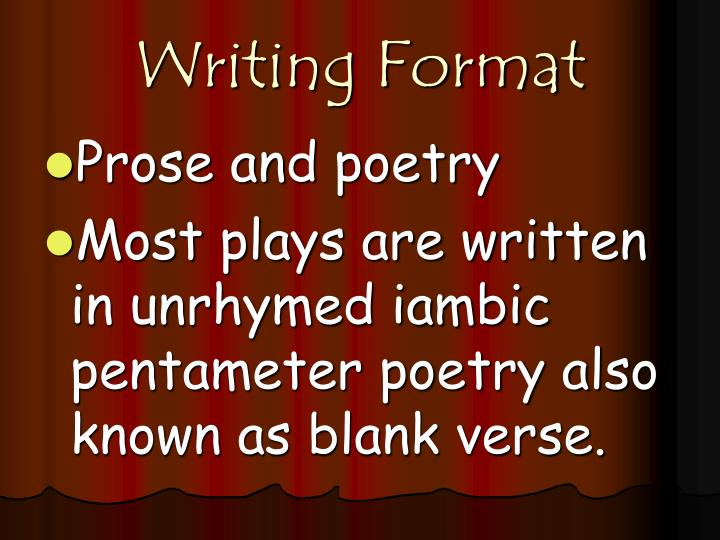 Writing Format