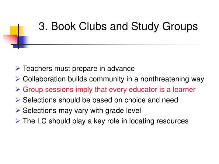 3. Book Clubs and Study Groups