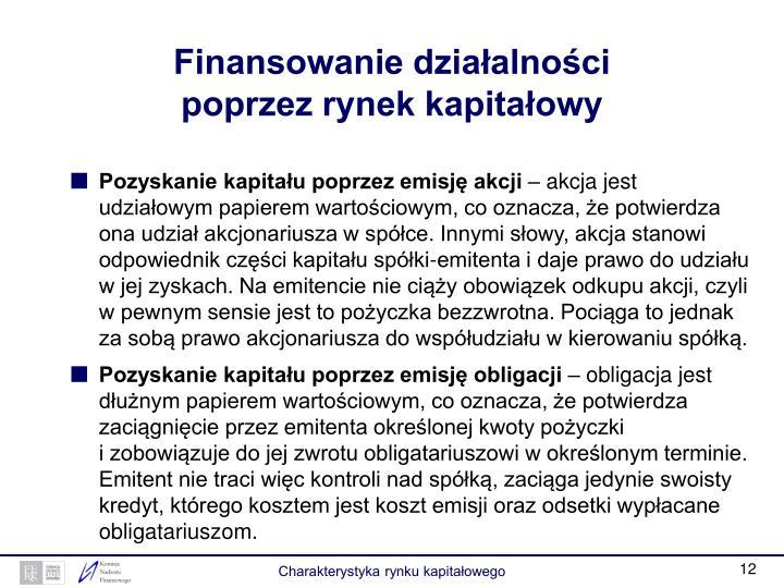 Finansowanie działalności