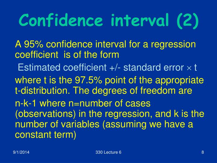 Confidence interval (2)