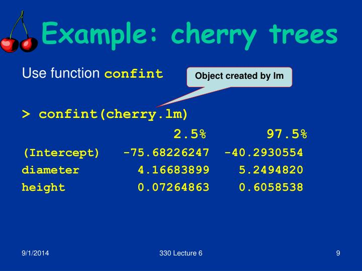Example: cherry trees
