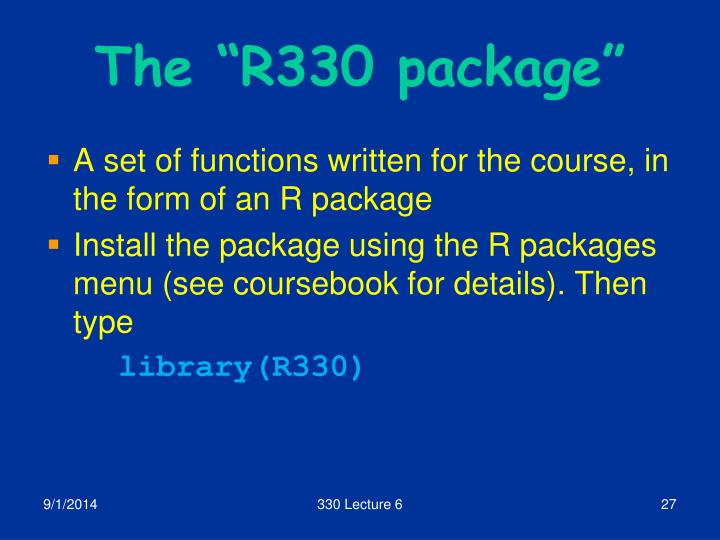"The ""R330 package"""