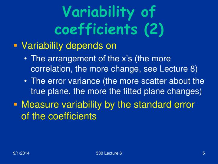 Variability of