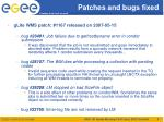 patches and bugs fixed1