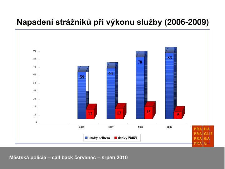 Napadení strážníků při výkonu služby (2006-2009)
