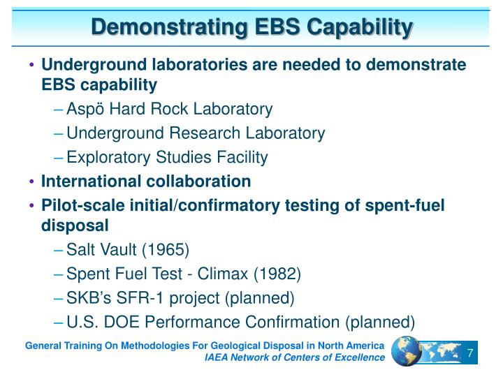 Demonstrating EBS Capability