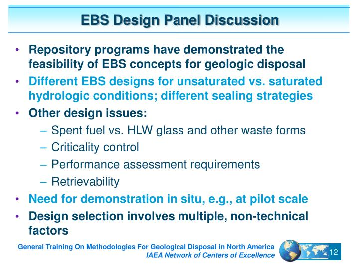 EBS Design Panel Discussion