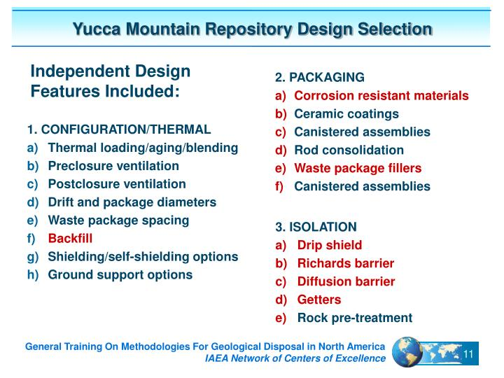 Yucca Mountain Repository Design Selection
