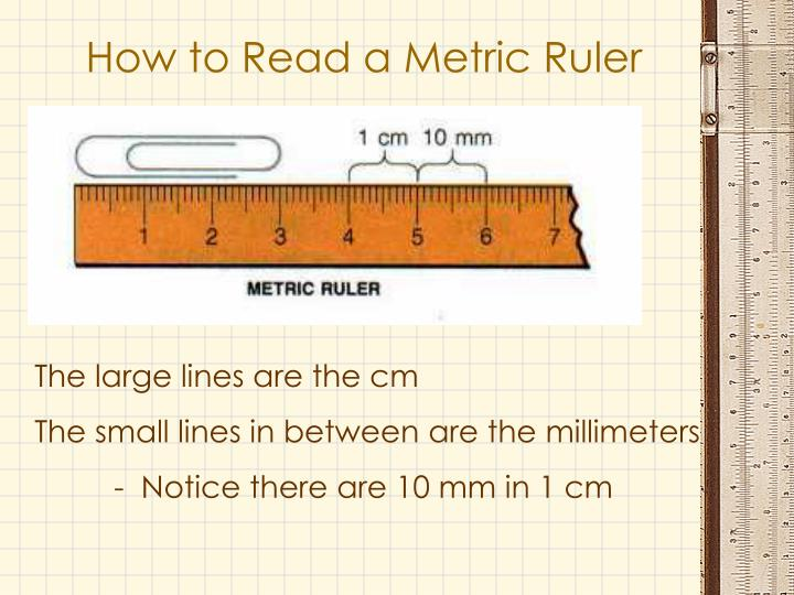 How to Read a Metric Ruler