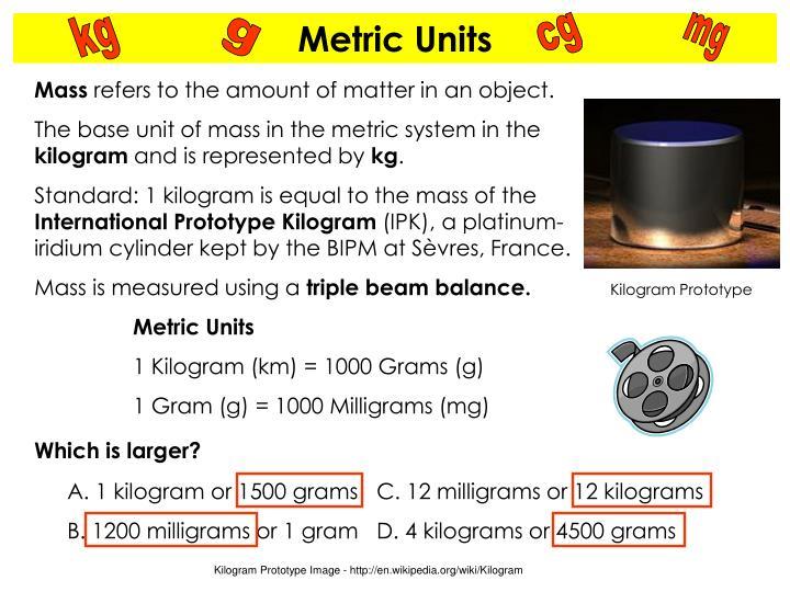 Kilogram Prototype