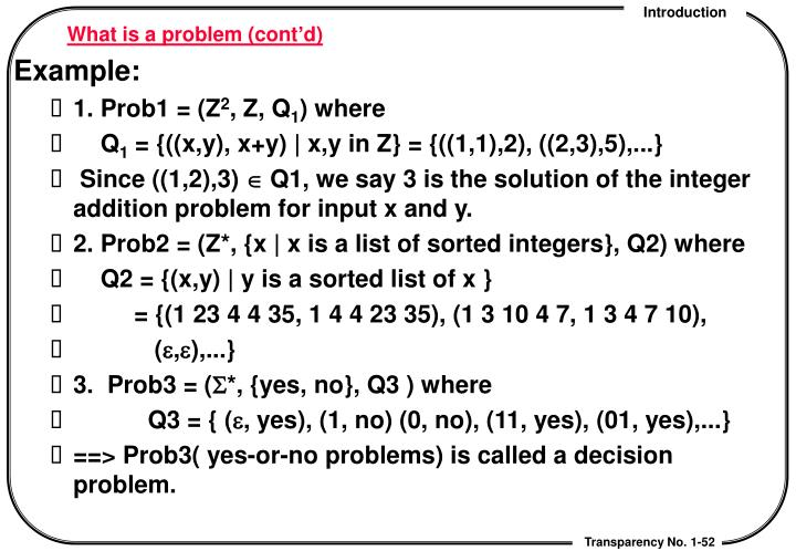 What is a problem (cont'd)