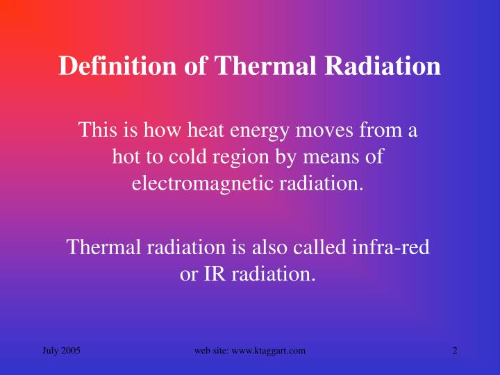 Ppt Thermal Radiation Powerpoint Presentation Id 3768105
