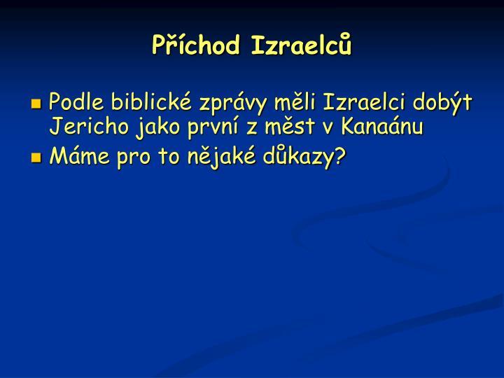 Příchod Izraelců