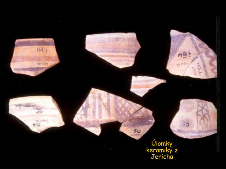 Úlomky keramiky z Jericha