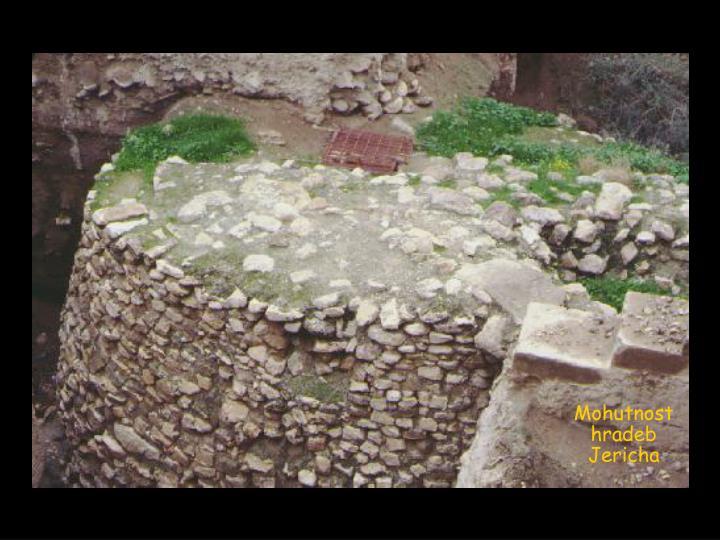 Mohutnost hradeb  Jericha