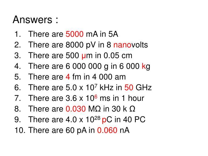 Answers :