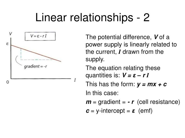 Linear relationships - 2