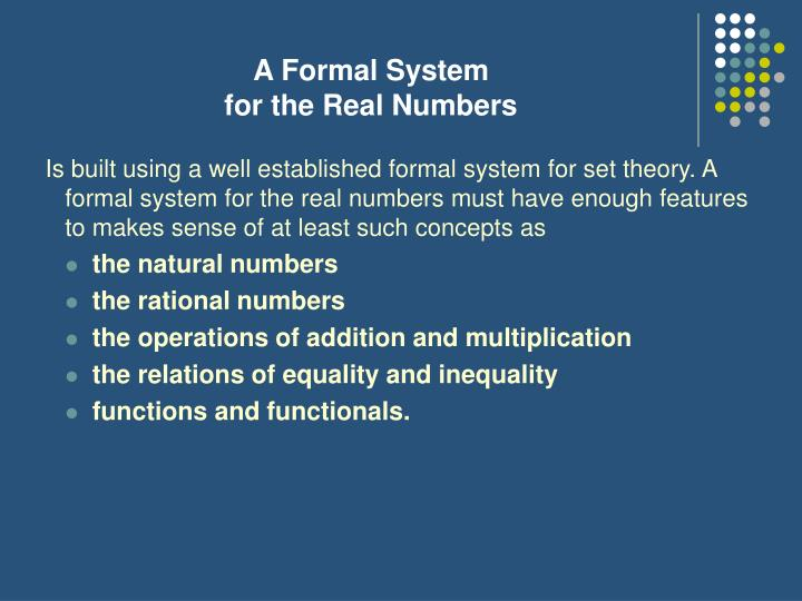 A Formal System