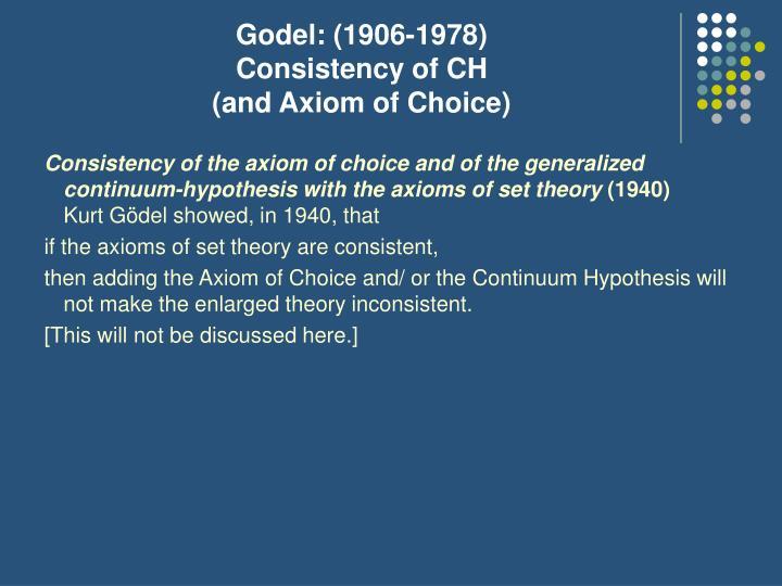 Godel: (1906-1978)