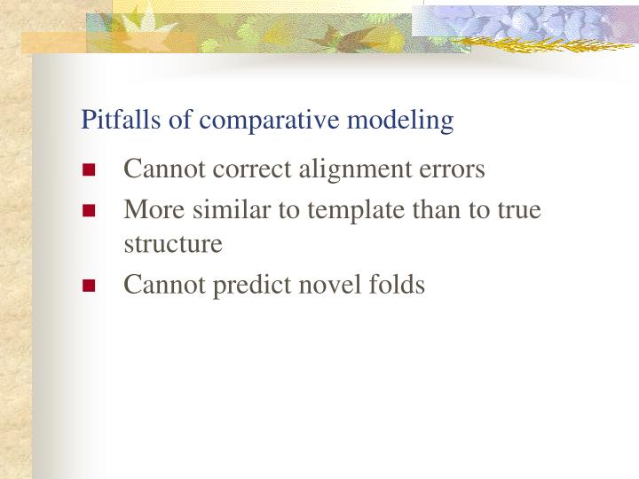 Pitfalls of comparative modeling