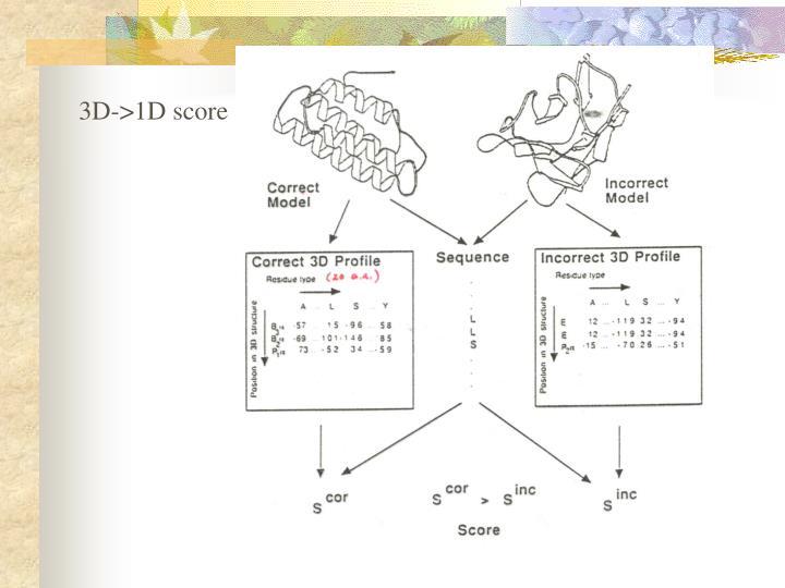 3D->1D score