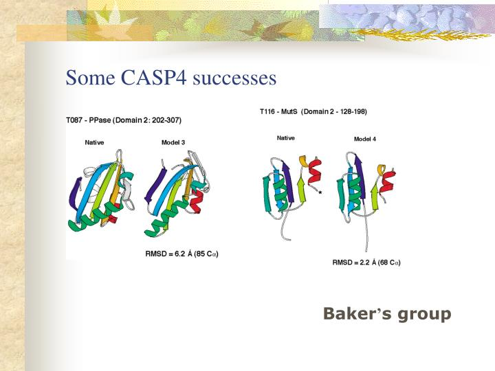 Some CASP4 successes