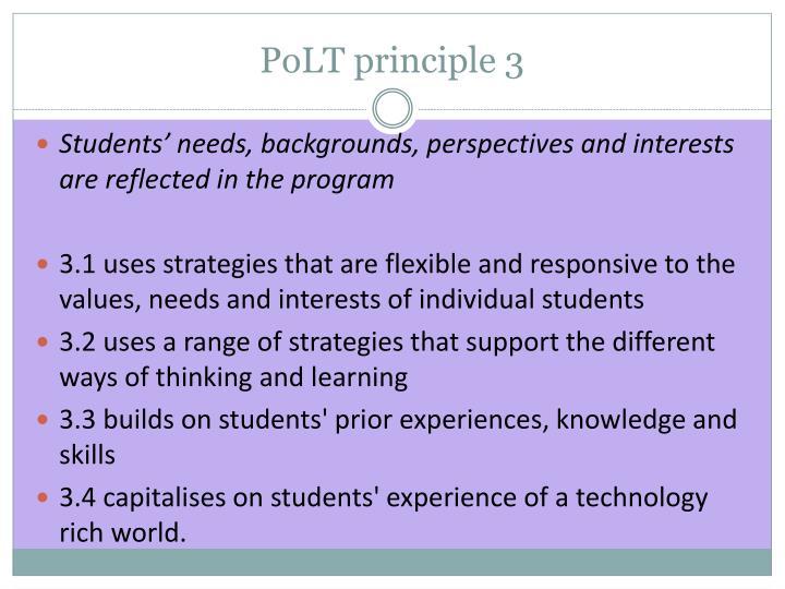 PoLT principle 3
